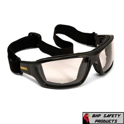 Dewalt Converter Safety Glasses Goggles Inout Anti Fog Lenses Foam Padded