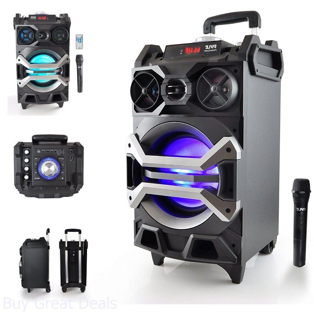 pyle bluetooth karaoke pa speaker