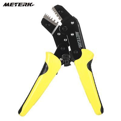 Meterk Wire Crimper Ratchet Terminal Crimping Pliers 24-10awg 0.25-6.0mm P3n3