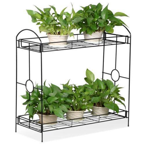 2 Tier Metal Plant Stand Indoor Flower Pot Rack Planter Shel