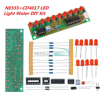 5pcs New Ne555cd4017 Light Water Flowing Light Led Module Diy Kit Mf
