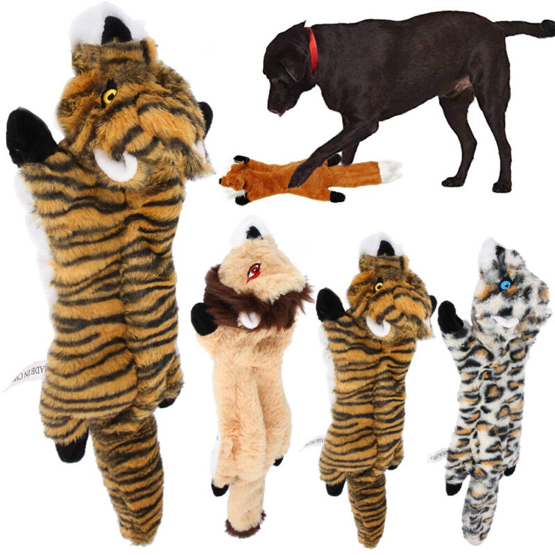 Plush Dog Puppy Pet Squeaker Toys Squeaky Funny Sound Play Chew Animal Bite Toy