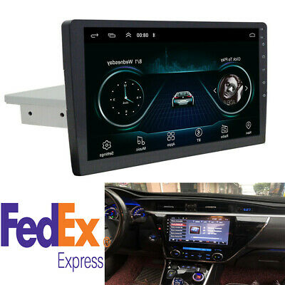 Android 8.1 Car Stereo Radio 9Inch 1 DIN HD Quad-core GPS Wifi BT OBD Adjustable