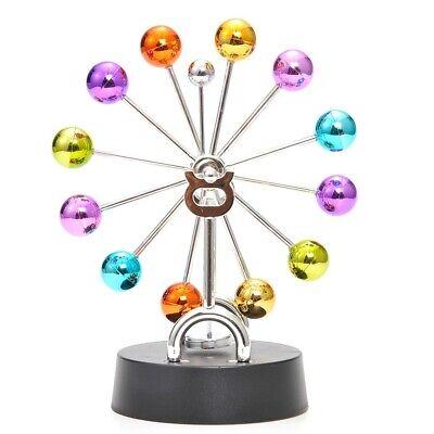 Perpetual Motion Metallic Balls Kinetic Wheel Display Perpetual Motion Science