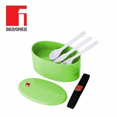 Schiscetta termica portapranzo e posate ermetica porta pranzo cibo vivande verde
