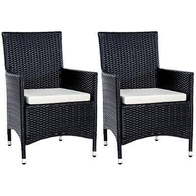 2er Set Polyrattan Stühle Gartenstuhl Sessel Rattanstuhl Stuhl Aluminium BWare
