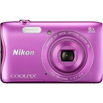 Nikon COOLPIX S3700 20.1MP Digital Camera HD Video (Pink) Factory Refurbished