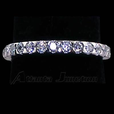 2MM SMOOTH PRONG SET ROUND CLEAR CZ ETERNITY WEDDING BAND_SIZE-8__925 SILVER
