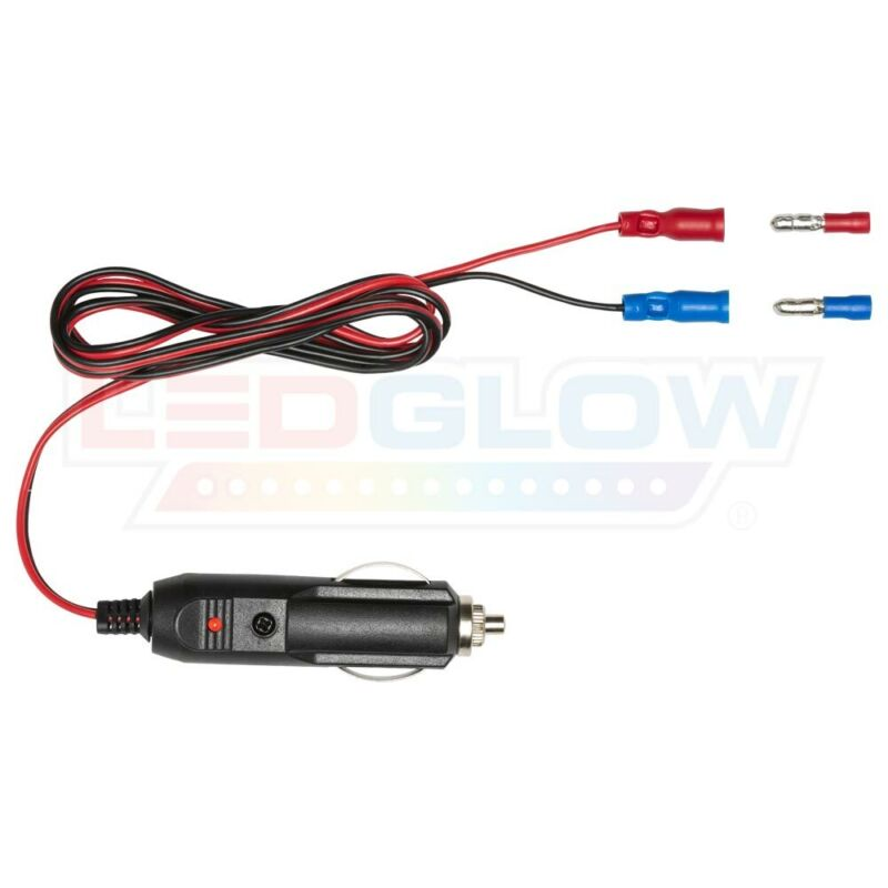 LEDGlow 12V Cigarette Lighter Power Adapter for Cars & Trucks - Easy to Plug In