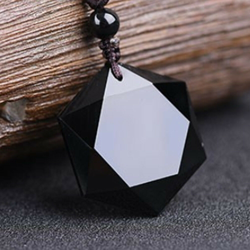 Unisex men women lucky natural stone carved black obsidian pendant unisex men women lucky natural stone carved black obsidian pendant rope necklace aloadofball Choice Image