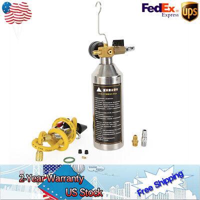 AC Air Conditioner System Flush Canister Gun kit W/ Guage R134 R12 R22 R410 R40