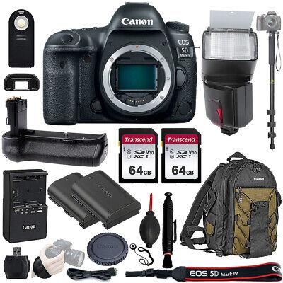 Canon EOS 5D Mark IV Uncensored Frame Digital SLR Camera Richness W Battery Grip 128GB Kit