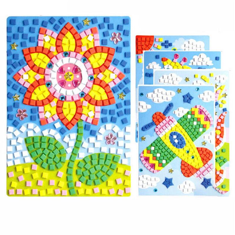 Kids Game  DIY Kits Drawing toys Stickers EVA Foam  3D Mosaics Puzzle