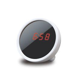 Digital Alarm Clock Makeup Mirror Mini Portable Multi-Function LED Display B9L5