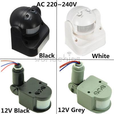 12v Ac Motion Sensor (White/Black/Grey DC12V/AC 220-240V 12M 180° PIR Motion Sensor for Home Security)