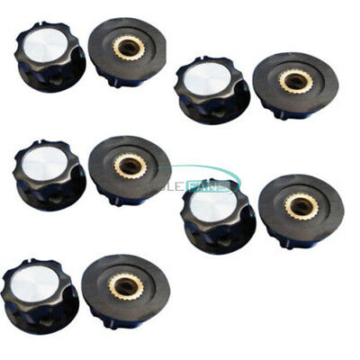 5pcs 16mm Top 6mm Adjustable Turn Shaft Insert Dia Potentiometer Rotary Knobs