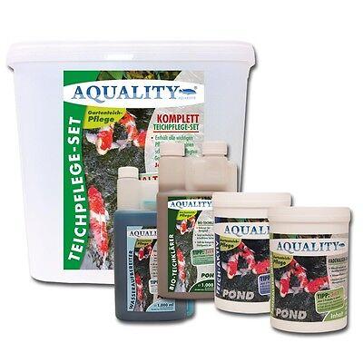 AQUALITY Komplett Teichpflege-Set BASE im Spar-Set für einen perfekten Teich