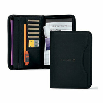 Chase Bank Zippered Leather Business Padfolio Executive Folder Organizer Uniform