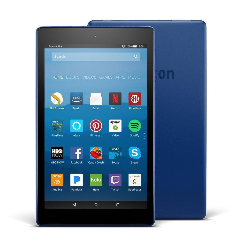 NEW Fire HD 8 Tablet 16GB Marine Blue with Special Offers &