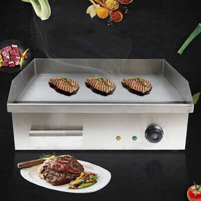 110v Electric Commercial Countertop Griddle Grill Bbq Flat Top Restaurant