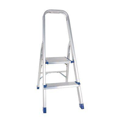 2 Step Non-slip Lightweight Aluminum Ladder Folding Platform Stool