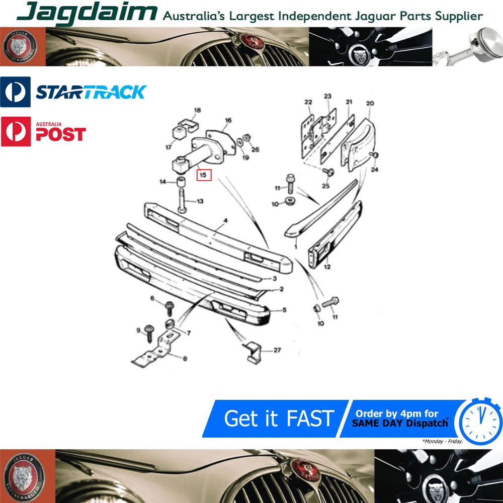 New Jaguar XJ40 XJ6 XJ12 Rear View Mirror Base Plate BEC17254 BAC6194