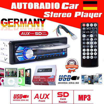 AUTORADIO Stereo AUX-In USB/SD MP3 DVD/CD DIN Tuner Auto KFZ Radio Player HD ()