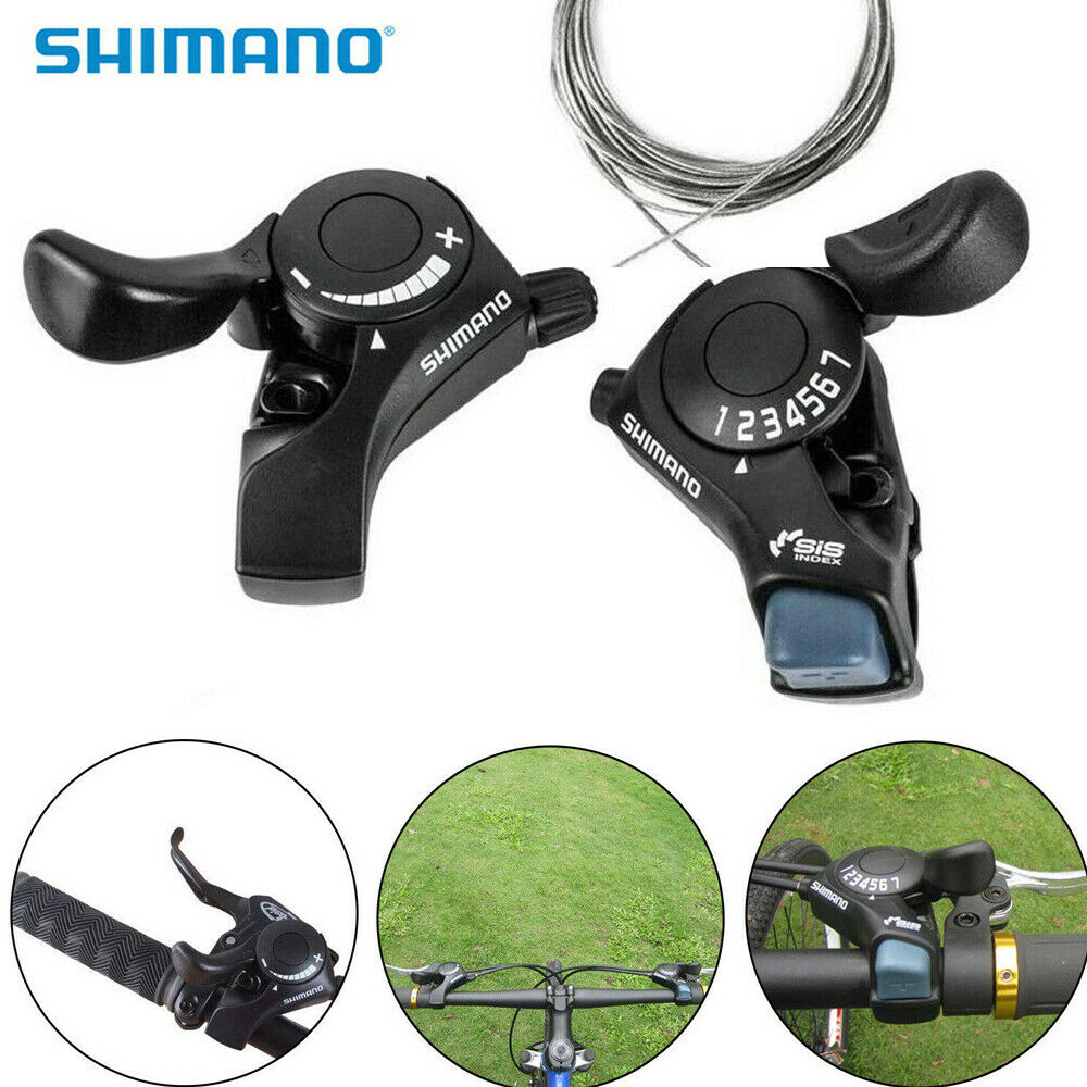 NOS Shimano Bicycle Thumb Shifters w// cables...12 or 18 Speed...Friction....Bike