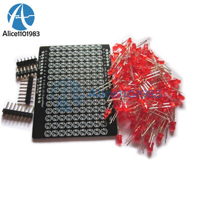 Lol Shield Matrix Lots Of Leds For Arduino Charlieplexed Display Diy Red Light