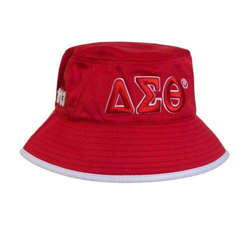 Delta Sigma Theta Sorority Bucket Hat-Red/White- Style 2-New!
