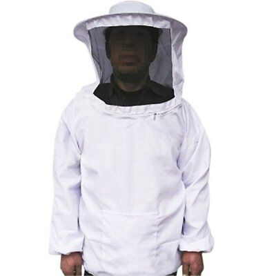 Professional White Bee Beekeeping Protecting Suit Dress Jacket Veil Equipment Us