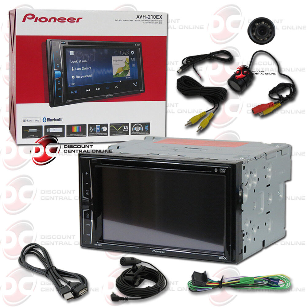 "PIONEER AVH-210EX 6.2"" TOUCHSCREEN USB DVD CAR BLUETOOTH STE"