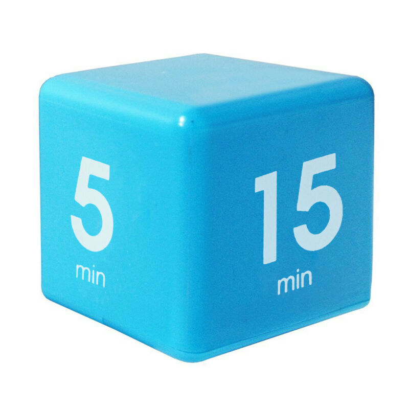 Clock Timer Alarm Cube Digital 5, 15, 30, 60 Minutes Time Ma