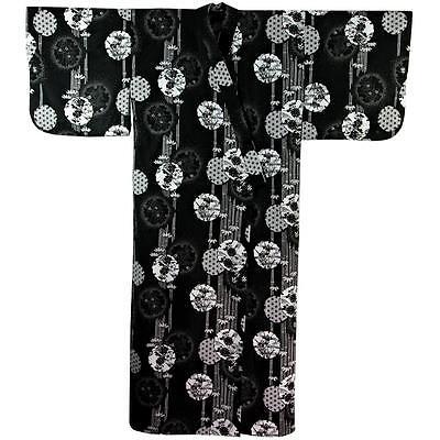 Kimono - Yukata HANAMARU L schwarz Ki-525-01-61  Original Japan