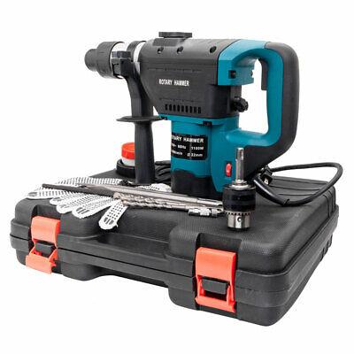 1-12 Sds Electric Hammer Drill Set 110v Concrete Tile Breaker Chisel