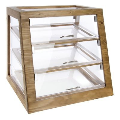 Cal-mil Madera Collection Bakery Display Case Reclaimed Wood And Acrylic - 21l