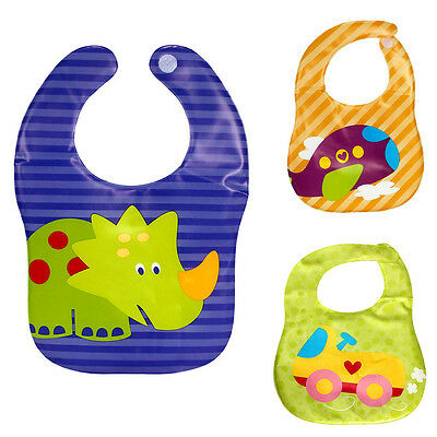 New Arrival Translucent Soft EVA Plastic Waterproof Bibs For Kid Children Gift