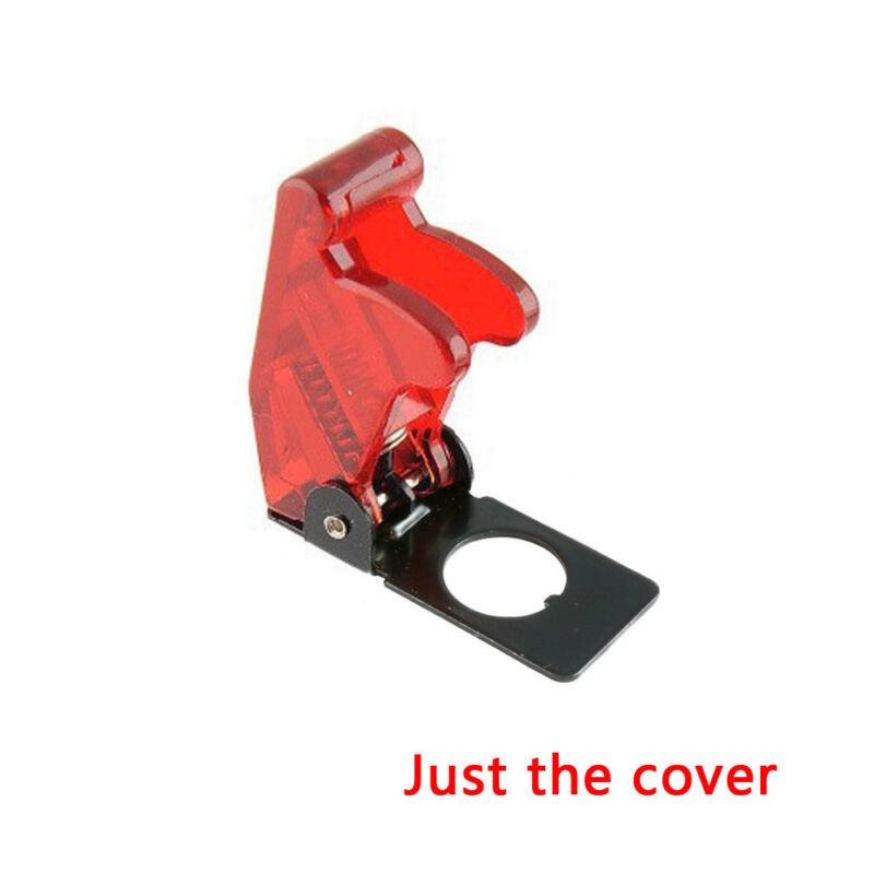 Toggle Switch with Red Safety Cover 12V 20A Red LED Light SPST Toggle Rocker Ignition Switch Control On//Off