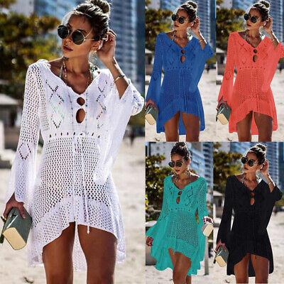 Sexy Women Summer Beach Dress Swimwear Lace Crochet Bikini Cover Up Bathing Suit Bathing Suit Cover Up Dress