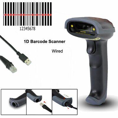 Portable Laser Barcode Scanner Gun Handheld Laser Pos Bar Code Reader Usb Cable
