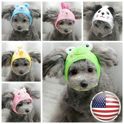 Christmas Cats Dogs Cap Hat Puppy Teddy Shapeshift Gift Small Animals Costume US ()