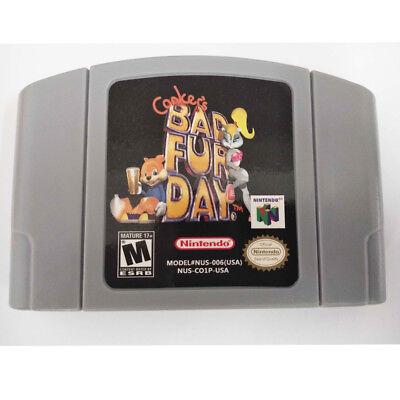 Conkers Bad Fur Day Nintendo 64 N64 Game Cartridge Playing Card US Version