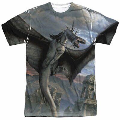 Trevco Men's Lor Ring Bearer Double Sided Adult T-Shirt, Fellbeast White, XL - Ring Bearer T Shirt