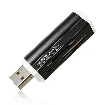 Kartenleser Kartenlesegerät für, Micro SD SDHC Speicherkarten USB Stick schwarz online kaufen