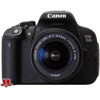 Canon EOS 700D / T5I Rebel DSLR Camera + 18-55mm STM Lens