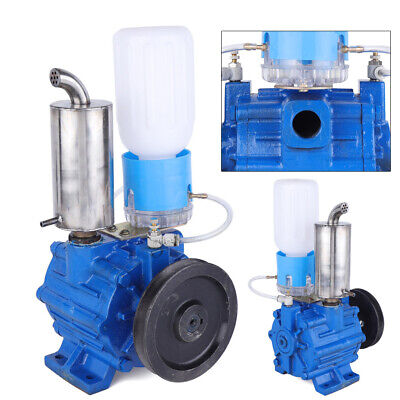 New Cast Iron Vacuum Pump Bucket Tank For Cow Milking Machine 110v 250lmin Usa