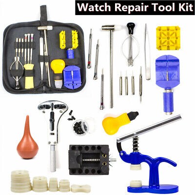36Pcs Watch Repair Tool Kit Link Remover Spring Bar Watch Back Case Opener Set