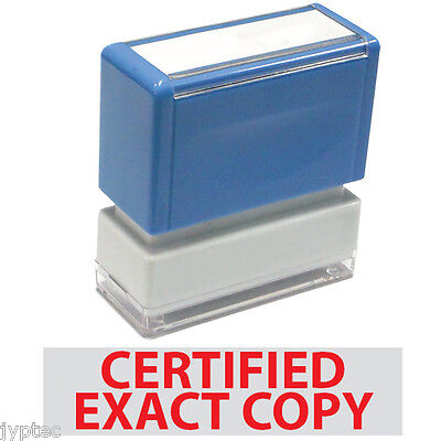Jyp Pa1040 Pre-inked Rubber Stamp With Certified Exact Copy