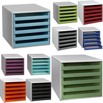 Schubladenbox A4 Ablagebox Briefablage Systembox Schreibtischbox Ablage 5 Fächer