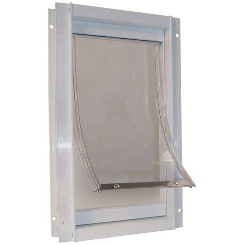 Extra Large Deluxe Aluminum Frame Pet Door Magnetic Flap Dog Cat 10.5 In X 15 In